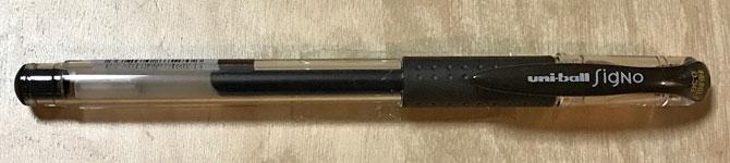 ユニボール シグノ 307 0.38mm 黒