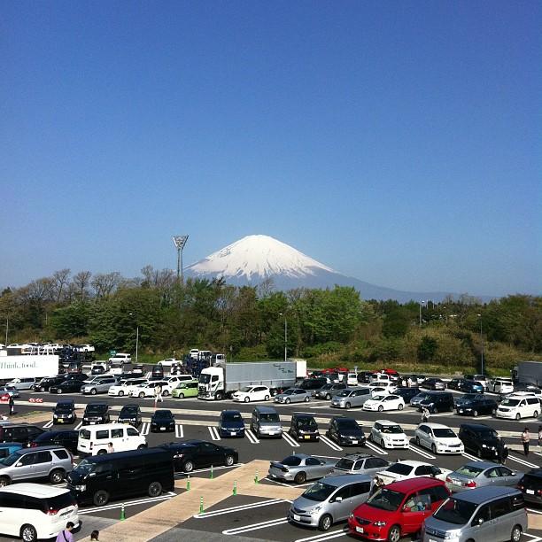 足柄SAから見る富士山