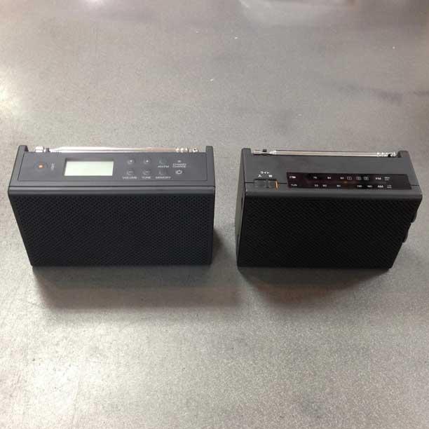 無印の充電ラジオ(新旧比較)
