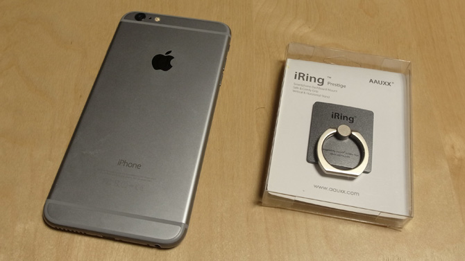 iPhone 6 Plus with iRing