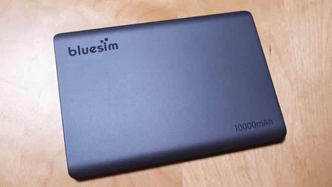 bluesimモバイルバッテリー