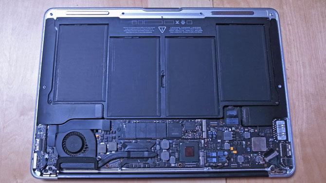 Macbook Airバッテリー交換後