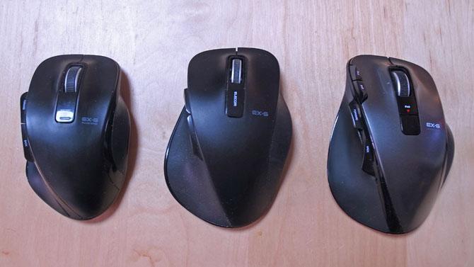エレコムのマウス達