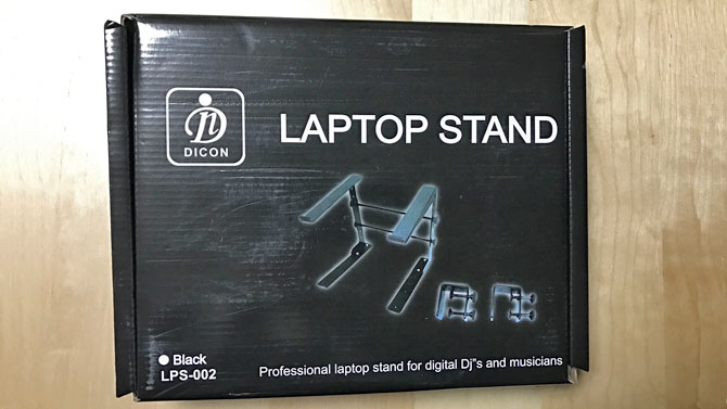 DICON LAPTOP STANDの外箱