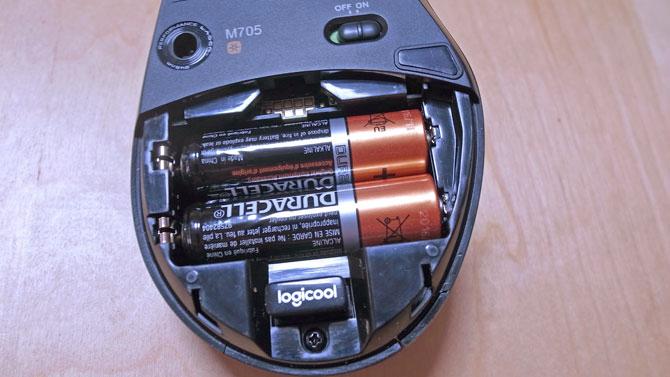 Logicool M705t電池