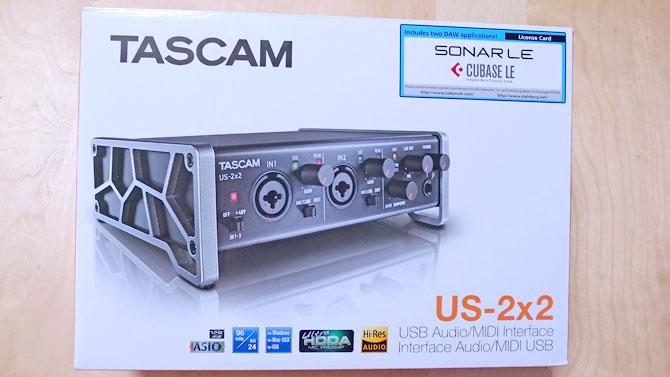 TASCAM US2x2パッケージ