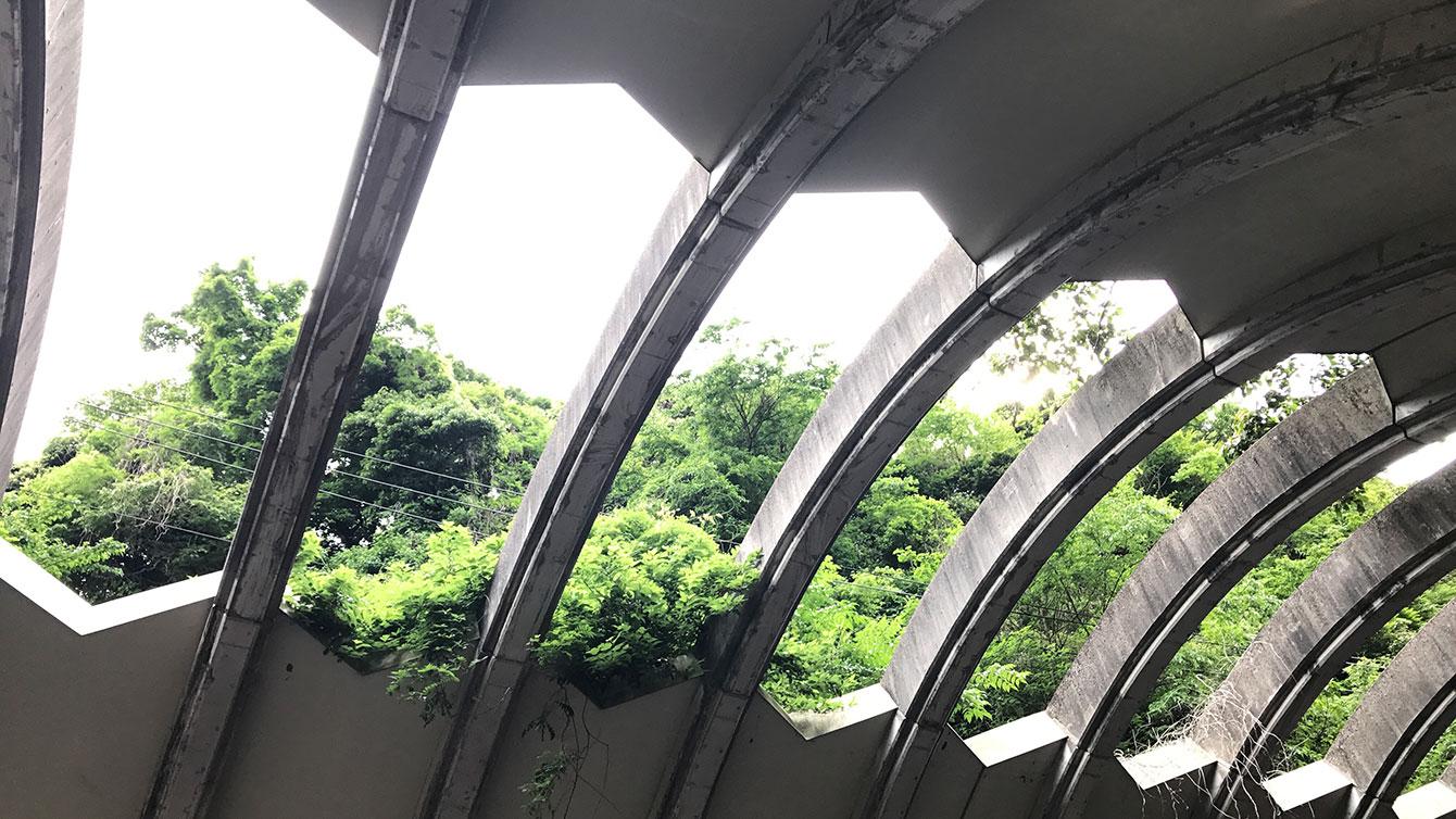 巨福呂坂洞門の天面