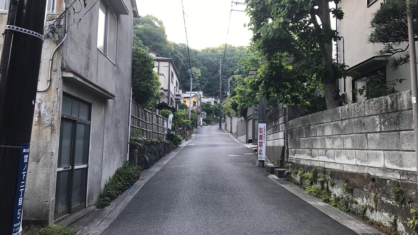 巨福呂坂切通し旧道入り口