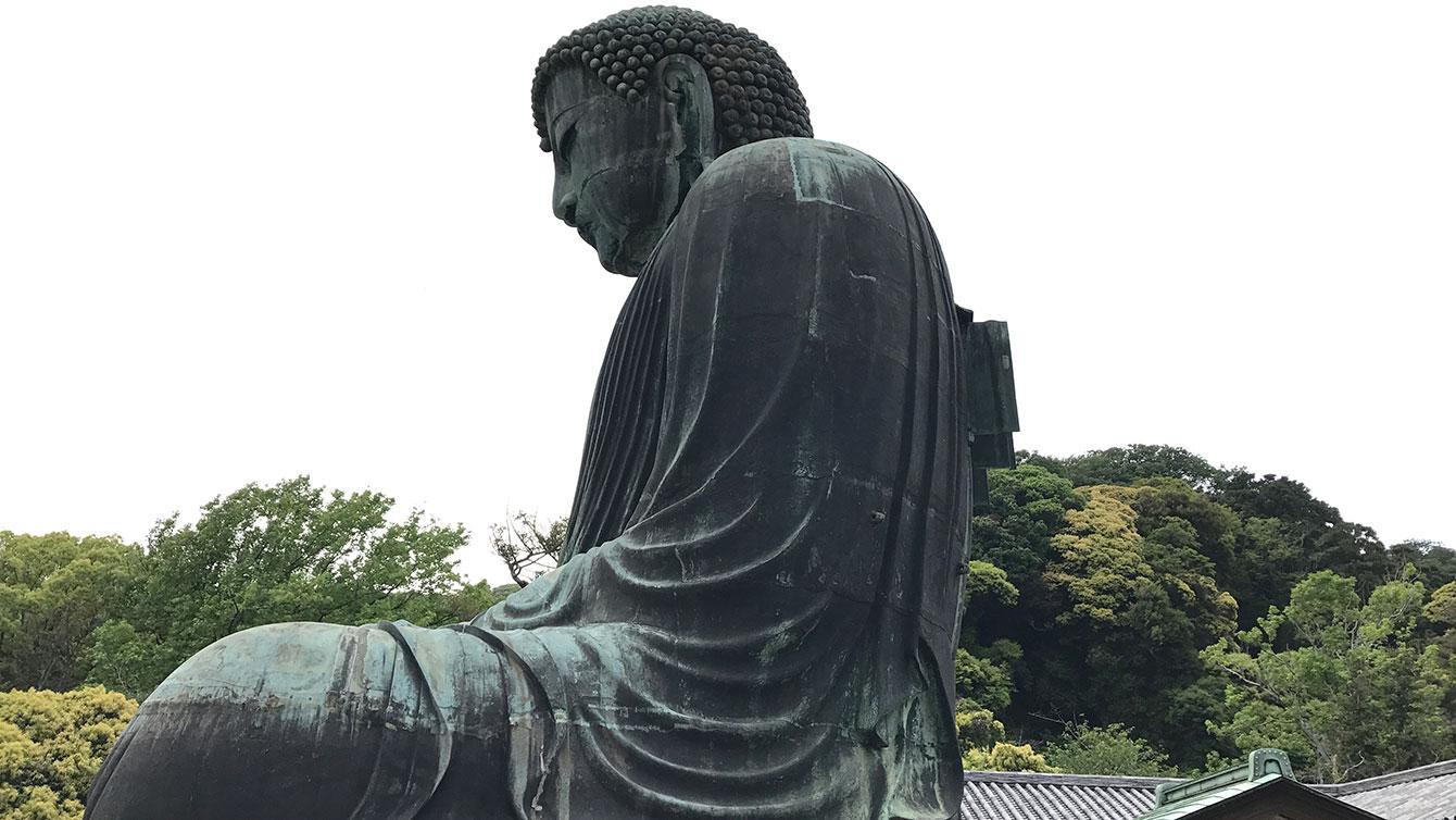 鎌倉の大仏を横から見たところ