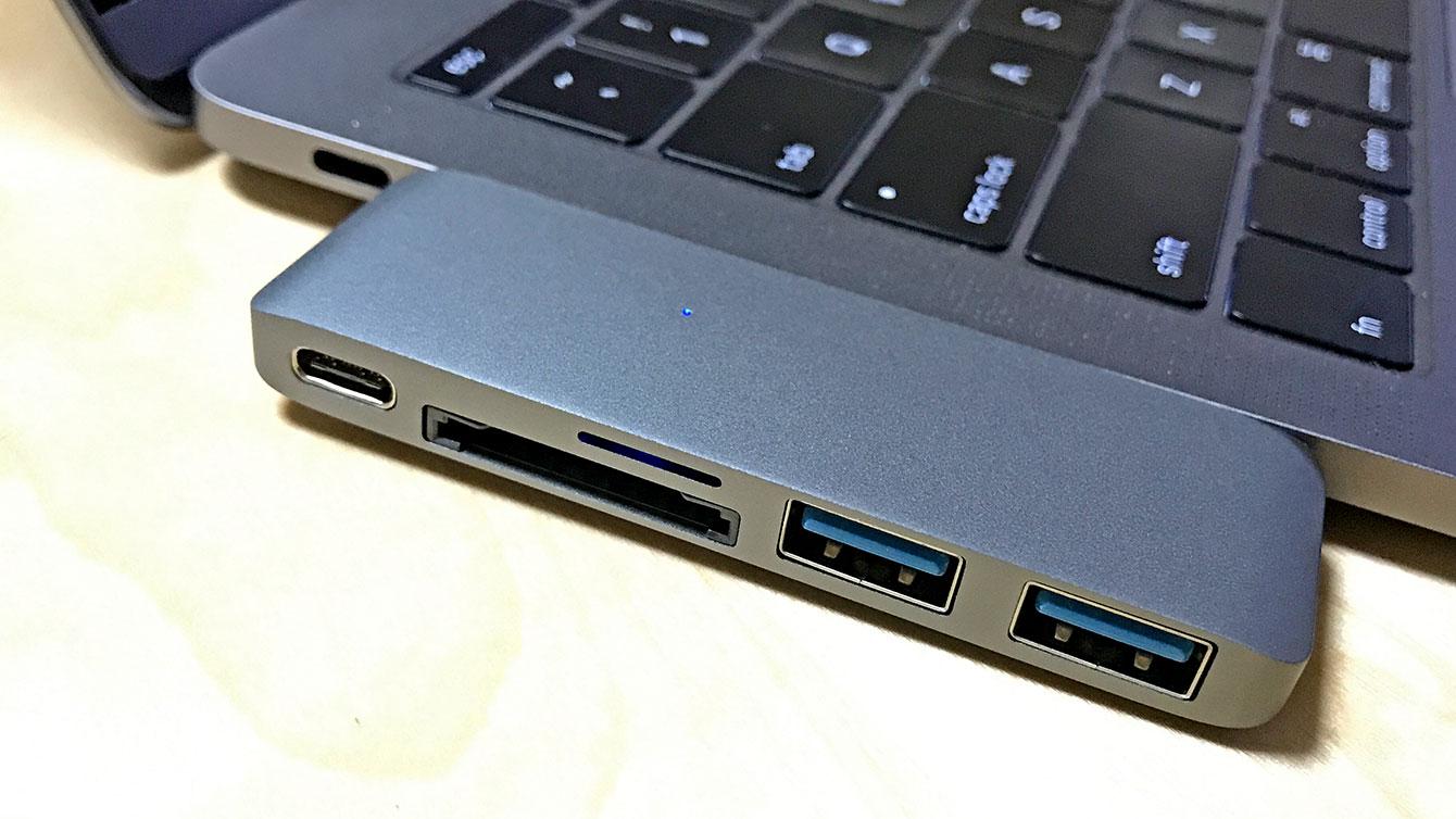 SATECHI Type-C Passthrough HubをMacbook Pro2016に接続したところ