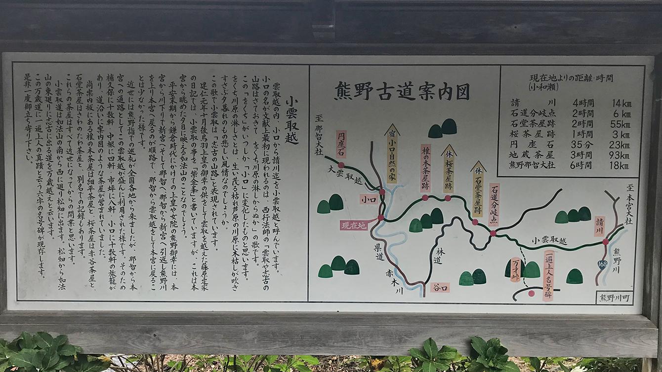 熊野古道案内図