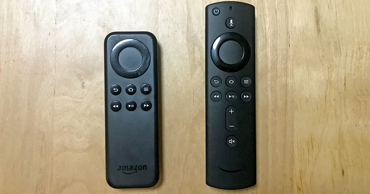 Fire TV Stick リモコン新旧比較