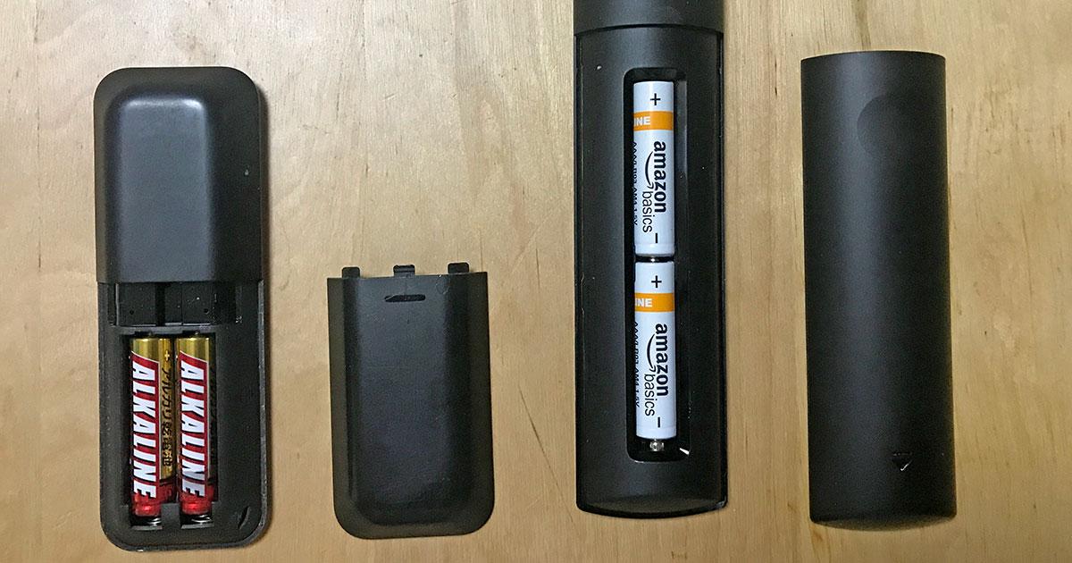 Fire TV Stick 電池ボックス新旧比較